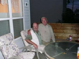 Dad visiting with an old friend and former teacher of mine while in Calgary.