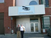 Dad and me at the Aviation Museum in Winnipeg. A couple of friends of mine toured us around and made it a wonderful stop-over for Dad.