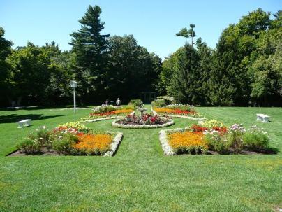 A beautiful garden on the Mackenzie King Estate in Gatineau Park, Quebec