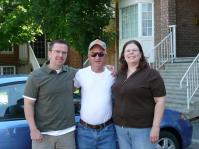 My brother Albert, Dad and me as we were getting ready to leave Ottawa