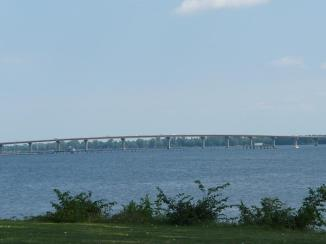 The bridge that crosses Lake Champlain to bring you from New York state to Vermont. It's an absolutely beautiful area.