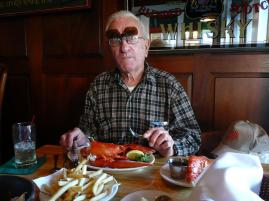 "The real one arrived just in time. Dad loved lobster and was excited about this meal because of everything he had heard about Maine lobster. Unfortunately, it did not live up to the hype. (He managed to ""suffer"" through it, though...)"