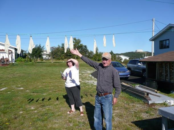 2007-09-18_Drying fish 5 - Dad and Mariette