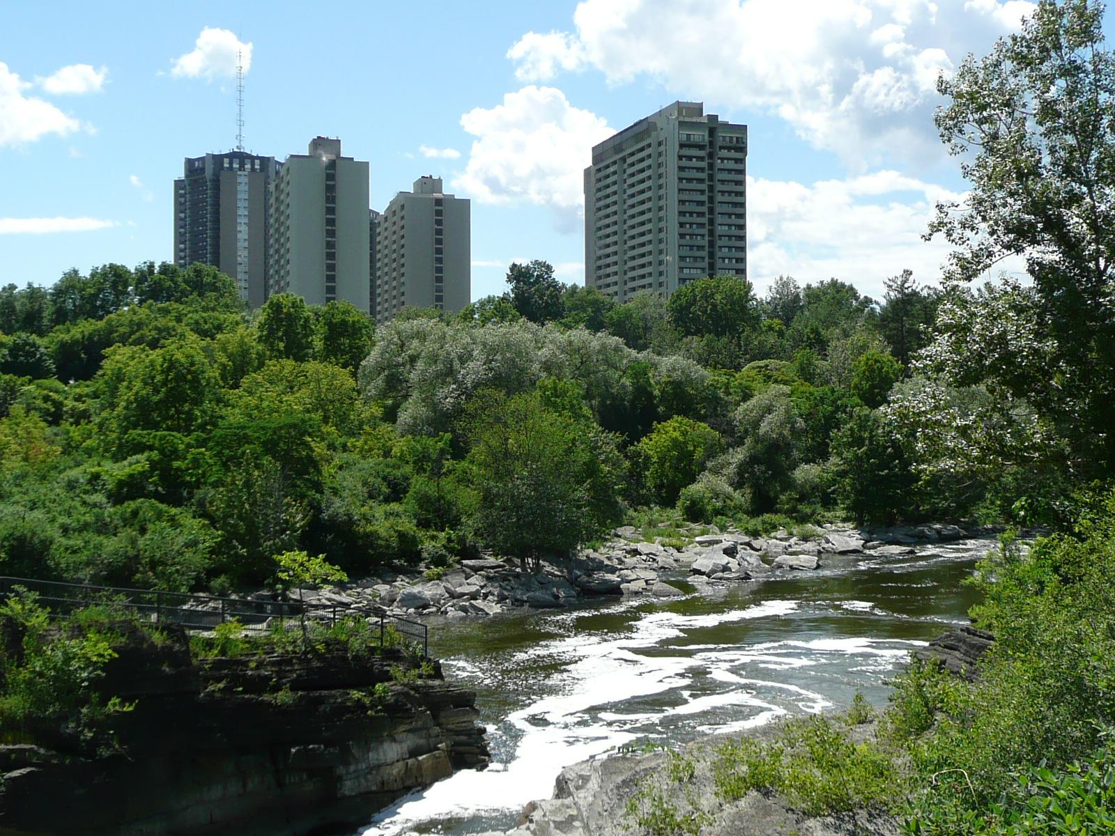 Rideau River in Hog's Back Park, Ottawa, ON