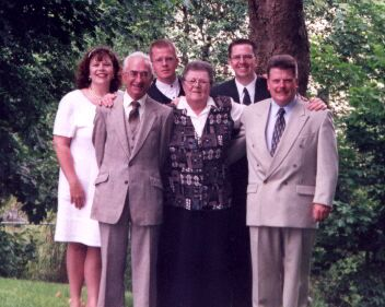 Mom, where she best liked to be - the centre of our family