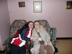 Me and Mom, January 7, 2008 - she passed away sometime that night.