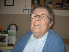 Mom, having a laugh, in April 2006.